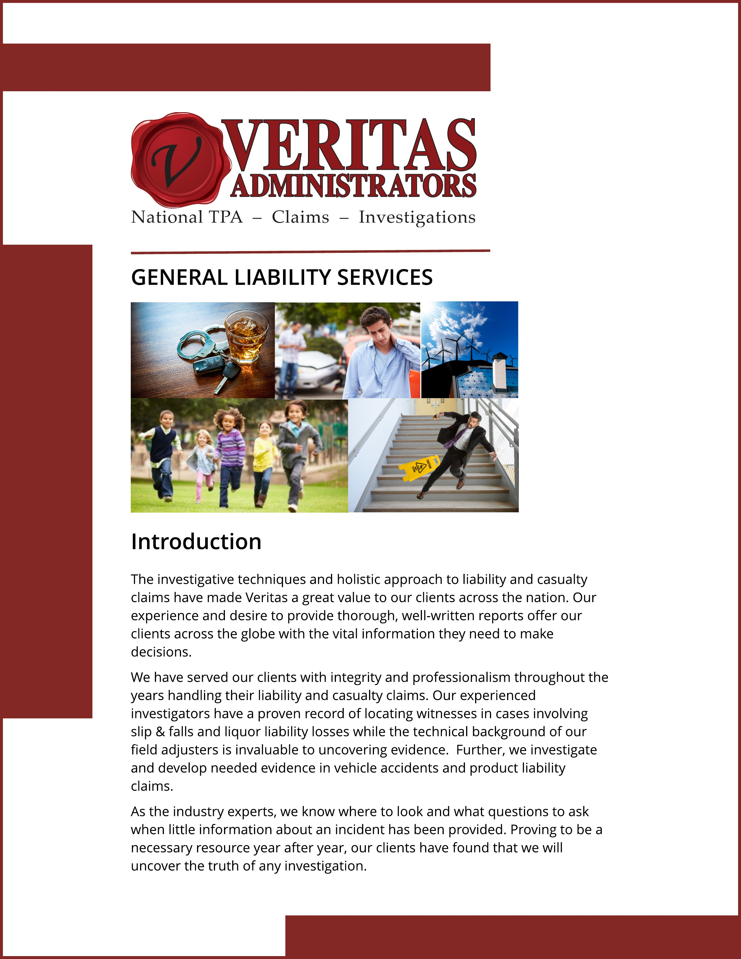 General Liability Claims Services