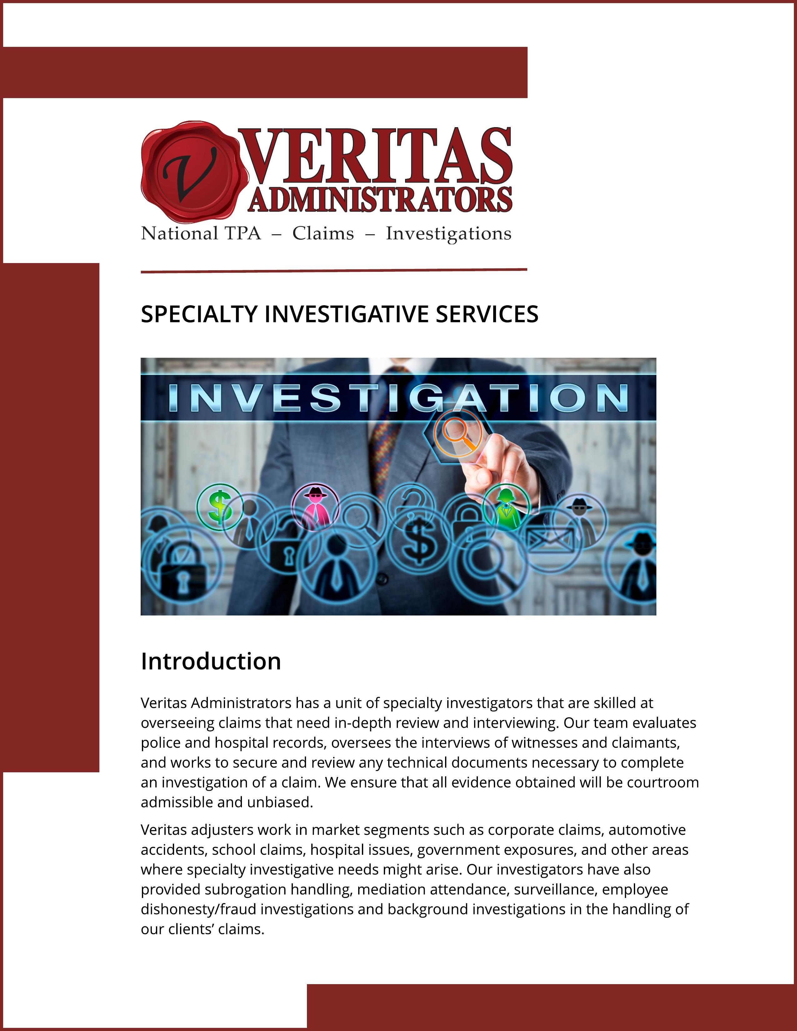Specialty Investigative Services