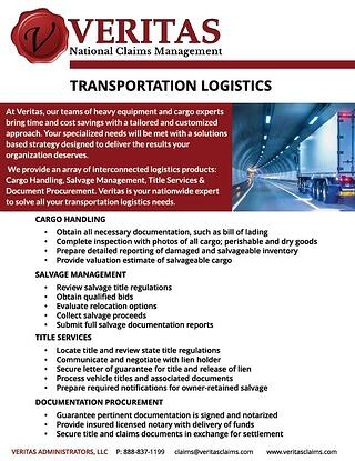 Transportation Logistics Brochure